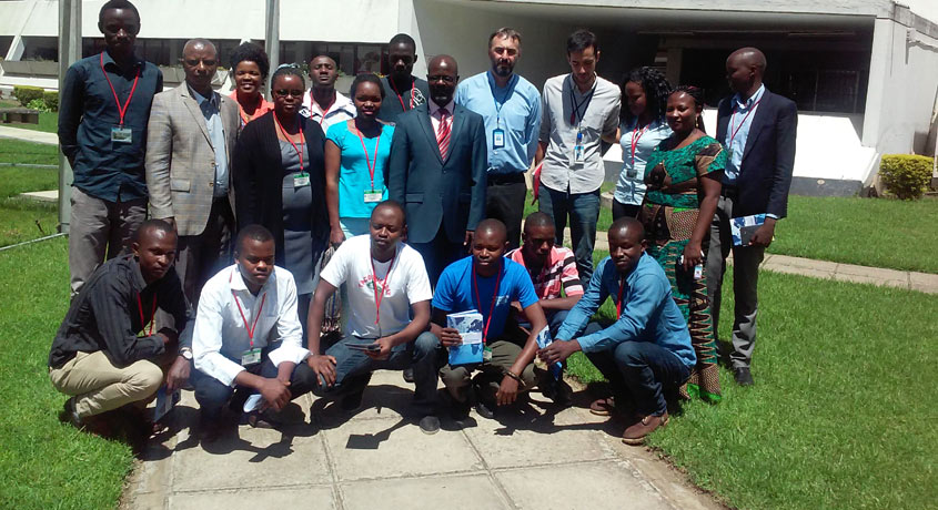 IKM students and staff during an educational trip to the United Nations Mechanism for International Criminal Tribunals in Arusha, Tanzania.